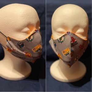 Other - 100% Cotton Face Mask w/ Basketball Team Logos